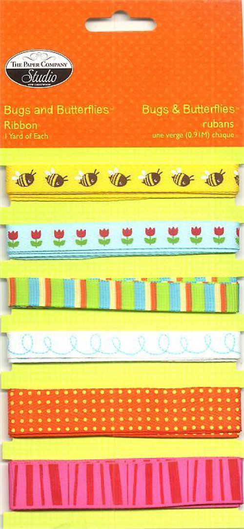 Sada stužek Bugs and Butterflies  - 6 druhů