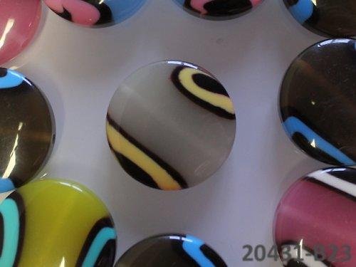 """20431-B23 Korálky kola \""""barvy moře \"""" ŠEDÉ, 1ks"""