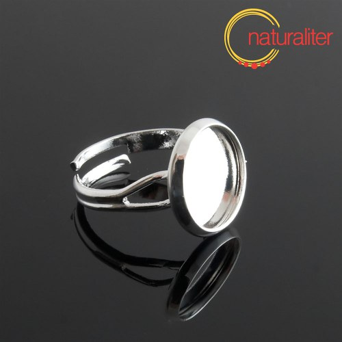 Základ na prsten s lůžkem 12mm stříbrná barva