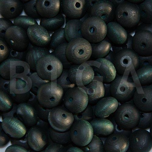 dřevěné korálky 12x8mm