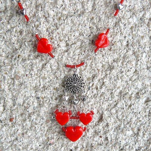Valentýnský náhrdelník - srdce