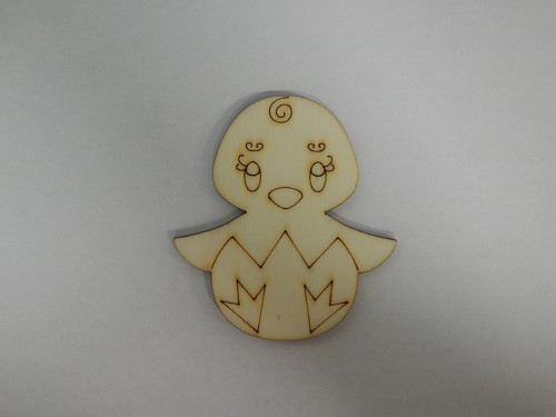 Dřevěné výřezy - Kuřátko holka