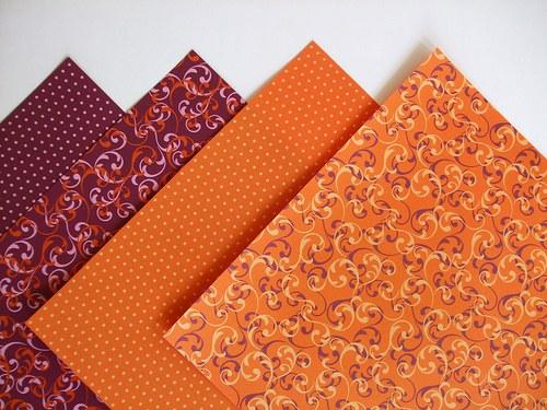Sada papírů origami - 4 ks, 20x20cm, 70g/m2