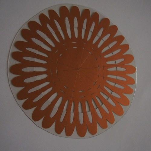 Laminovaná podložka pod hrneček - sluníčková
