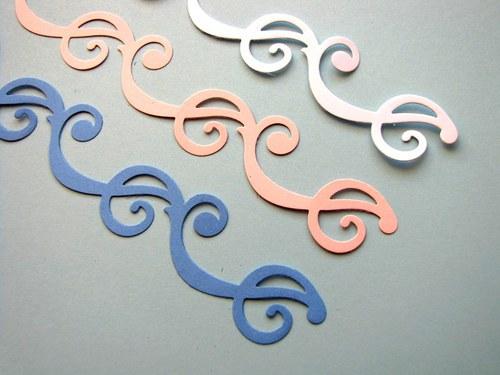 Bordura spirálková - 3 ks - barva podle přání