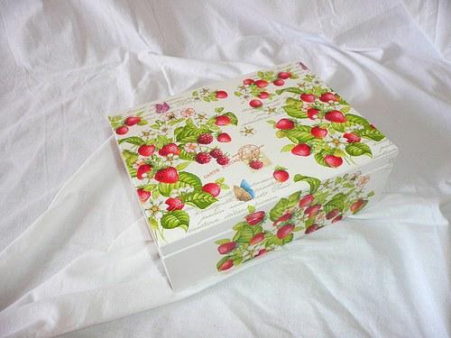 Krabička na čaj - 6 přihrádek - jahůdky