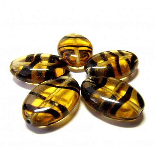 Medové korálky 16/11 mm 4 ks