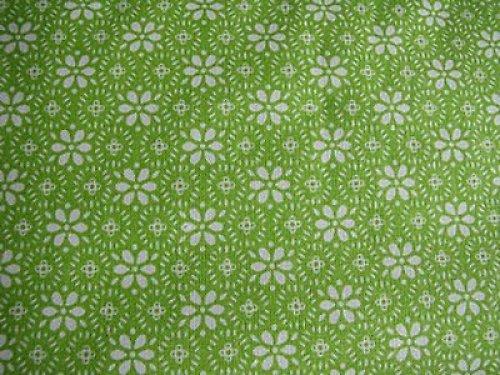 látka 100% bavlna - zelená kruh