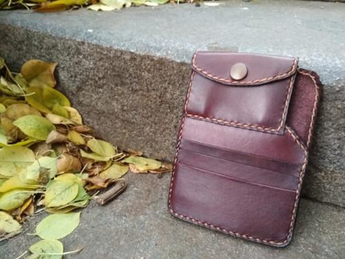 Dámská minimalistická peněženka  - tmavě fialová