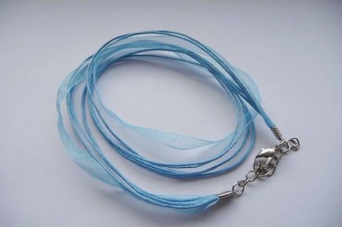Organzová šnůrka  barva světle modrá