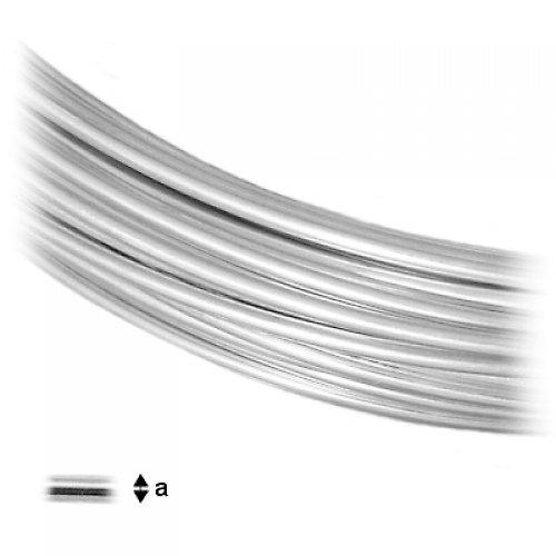 DRÁT STŘÍBRO Ag 925/1000 1,0 mm měkký,10 cm