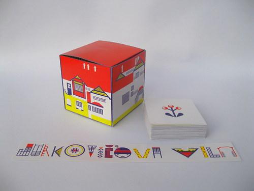 Pexeso, krabička a záložka Jurkovičova vila