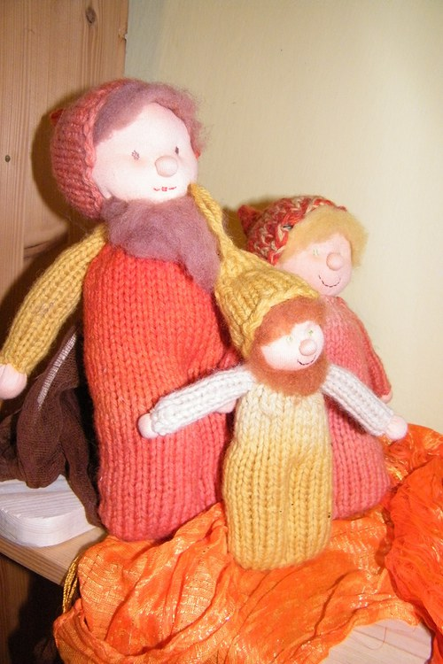 Pletení skřítci - rodinka - set na výrobu