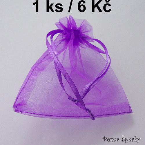 Světle fialový organzový pytlíček, 1 ks