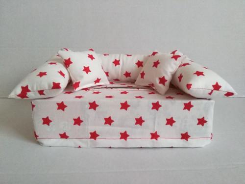 gaučík bílý s hvězdami
