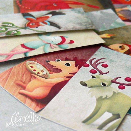 Visačky 12 ks - Vánoční přípravy