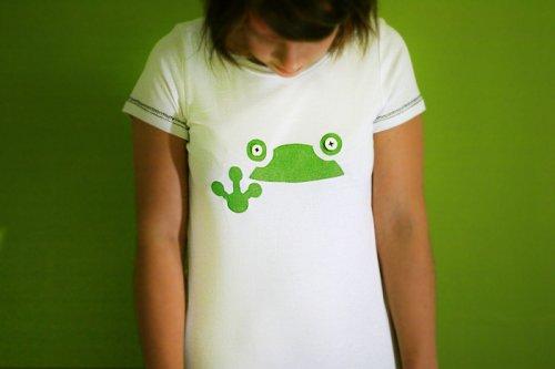 handmade tričko s žábou s knoflíky ° - °