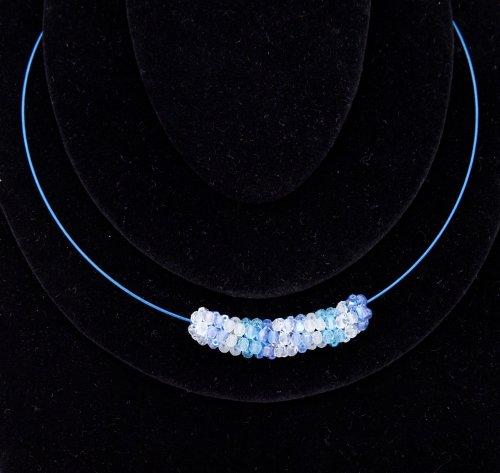 Náhrdelník - modrá obruč