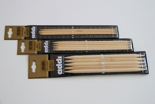 Bambusové ponožkové jehlice addi 3,5 mm