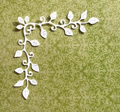 Rohový ornament s lístky (střední)