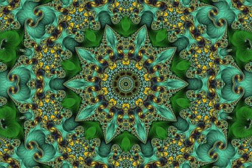 Mandala secesního fraktálu