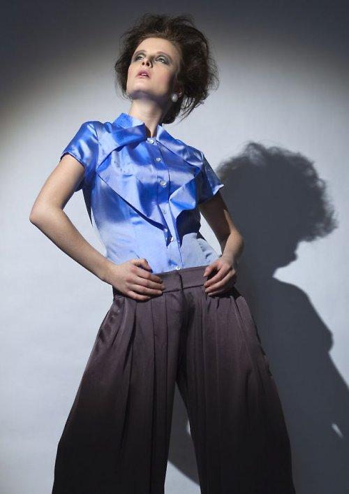 hedvábná halenka - modrá