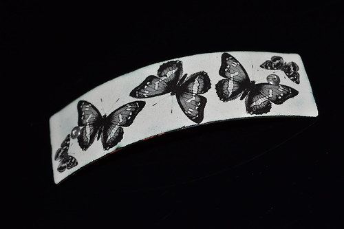 smaltovaná spona....motýl