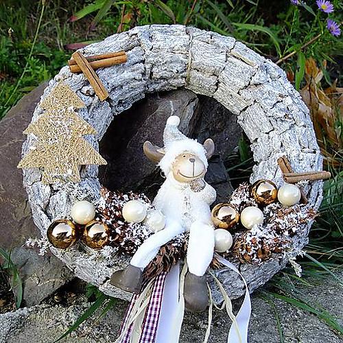 Vánoční věnec - Sobí vánoce
