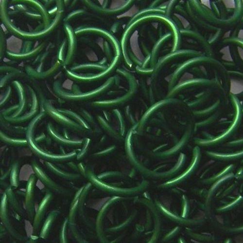 kroužky eloxovaný hliník 3,38/08 zelená 100ks