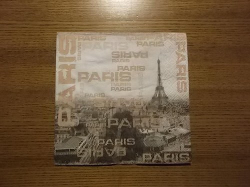 Ubrousek na decoupage - Paříž v hnědém