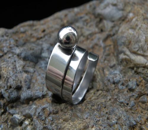 Prsten - Kulička v nerezu