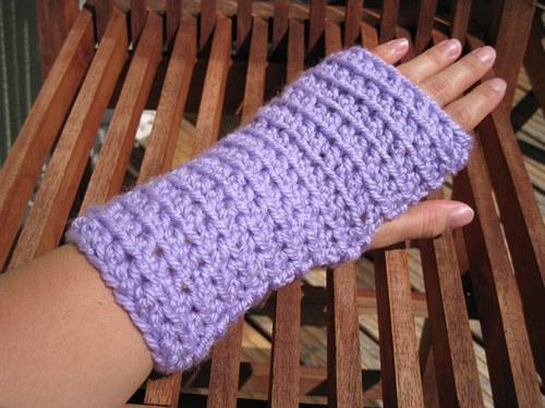 Háčkované návleky na ruky - rôzne farby