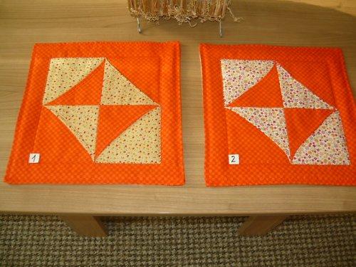 Oranžové prostírky