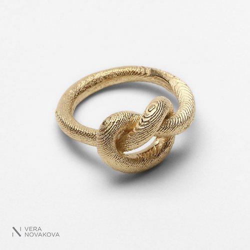 Prsten Uzel pozlacené stříbro