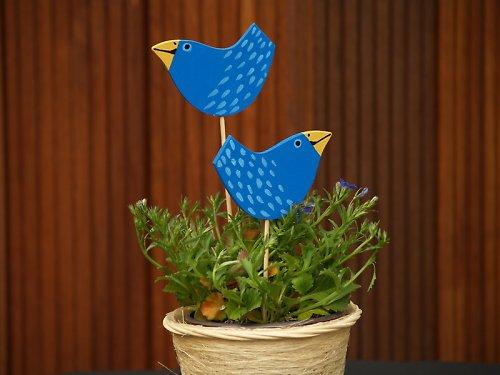 Zápich - ptáček modrý