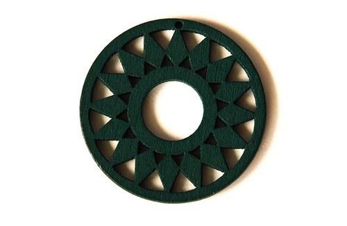 dřevěná kolečka- tmavě zelená