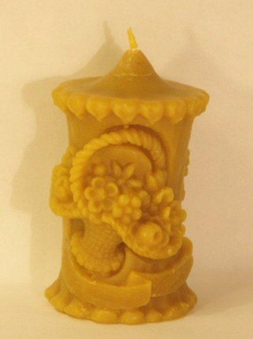 ozdobná svíce - svíčka včelí vosk