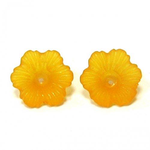 Oranžové kytičky - 2 ks