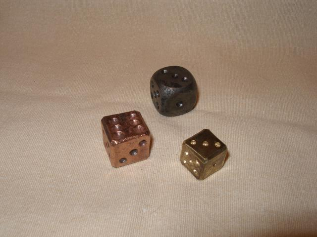 hrací kostka jednotlivě
