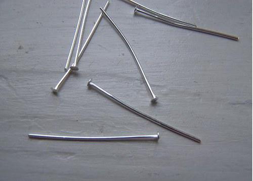 Ketlovací nýty -40mm - stříbrné - kov. Balení 50ks