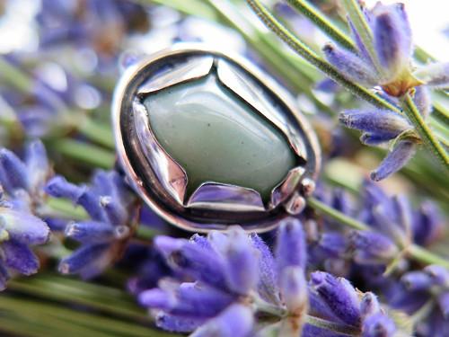 Prsten s avanturínem Stříbro 925/1000