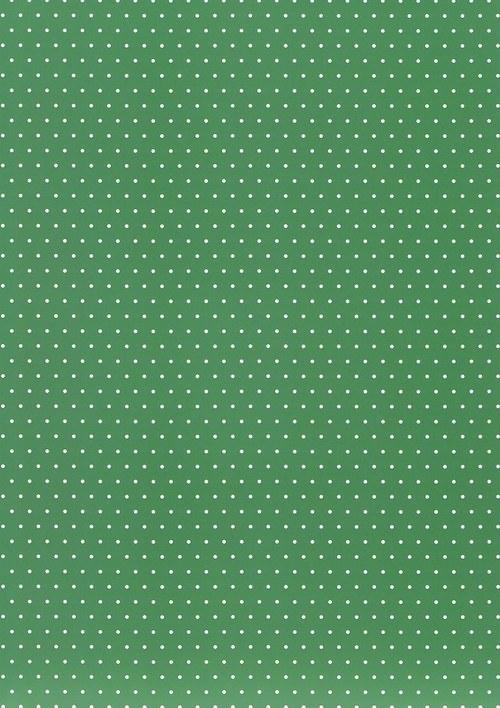 Fotokarton A4 puntíky tmavě zelené