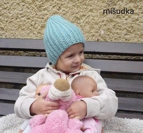 Čepice jako od maminky -  modrá 1.