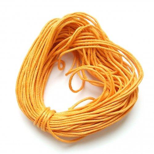 Voskovaná šňůrka světle oranžová