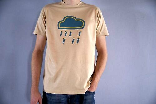 pánské tričko ranní bombový deštík