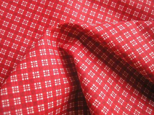 látka - metráž - červená kostička