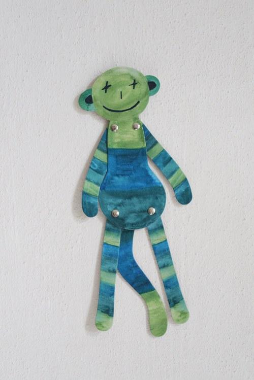 Opice na stěnu - Modrofous