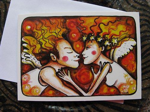 Andělé-svatební přání