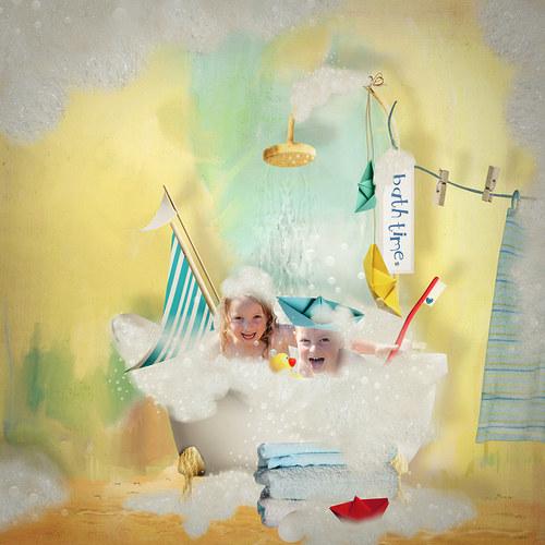 Scrap z vaší fotky (kit It is bath time!)