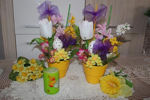 Velikonoční jarní veselý květináč SLEVA 10%